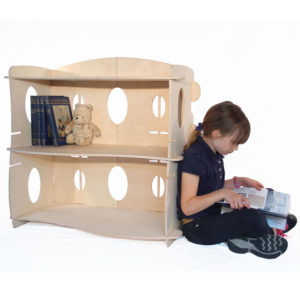 Children's Wooden Scalloped Bookcase