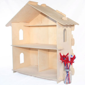 Large Wood Dollhouse